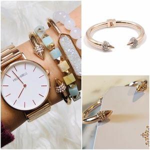 Kinsley Armelle Rose Gold Bling Spike Bracelet